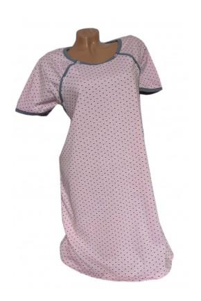 Ночная рубашка для беременных и кормящих Мамика с рукавом