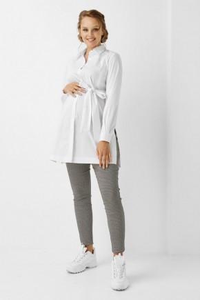Рубашка для беременных и кормящих Dianora голубая