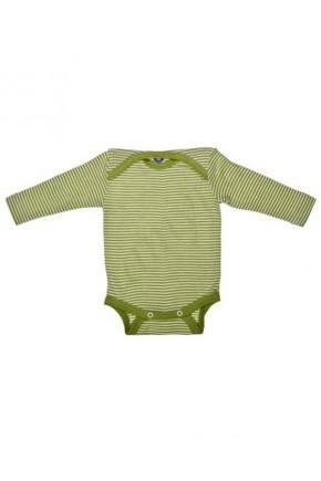 Боди длинный рукав Cosilana в зеленую полоску