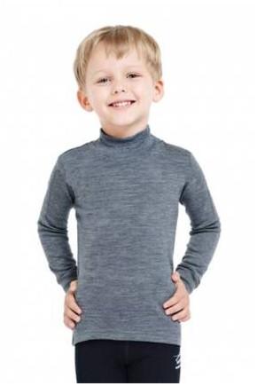 Термокофта дитяча Engel з вовни з довгим рукавом червоний-бежевий