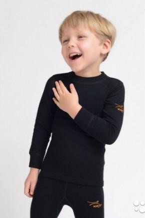 Футболка дитяча Cosilana з бавовни, вовни і шовку натуральний