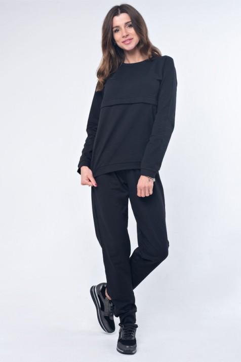 Базовый костюм для беременных и кормящих Lullababe Detroit черный
