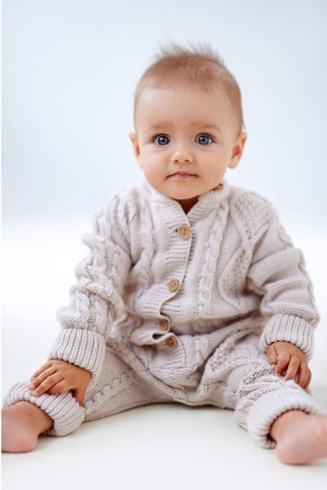Шерстяной детский комбинезон Lutik серый