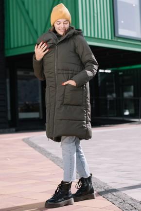 Зимова слінгокуртка 3в1 для вагітних та слінгоносіння Love & Carry Олива