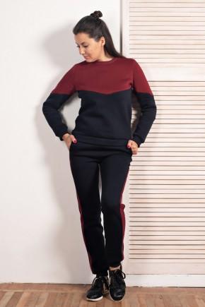 Зимний костюм для беременных и кормящих Lullababe Oslo синий с бордо
