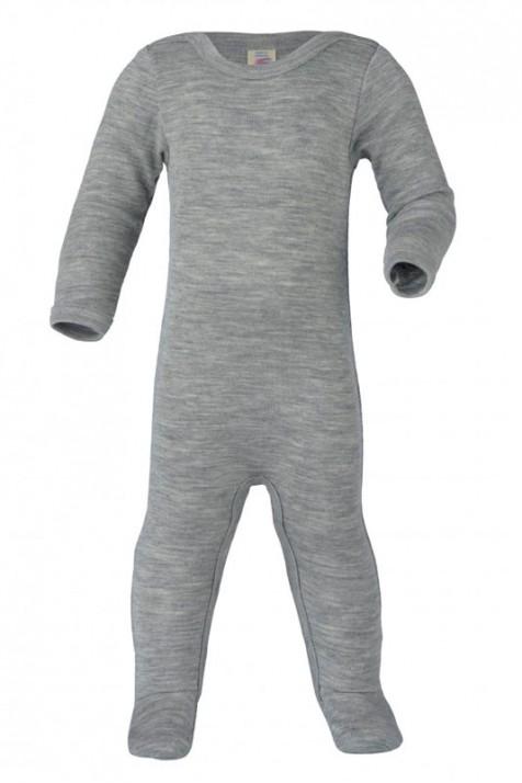 Человечек детский Engel из шерсти и шёлка серый