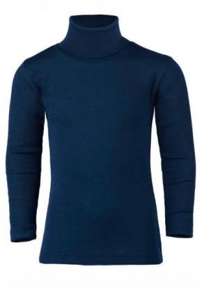 Термогольф подростковый Engel из шерсти и шёлка темно синий