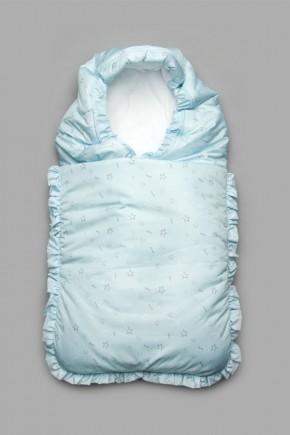 Конверт зимний для новорожденного Модный Карапуз голубой
