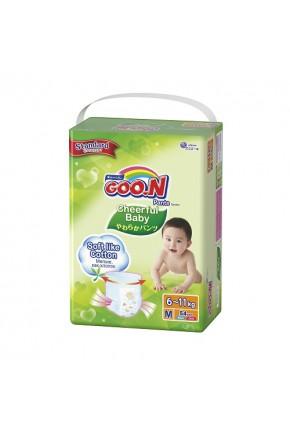 Трусики-подгузники CHEERFUL BABY для детей 6-11 кг (размер M, унисекс, 54 шт)
