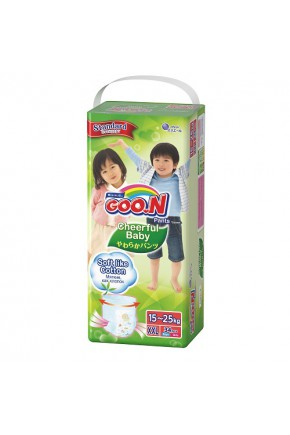 Трусики-подгузники CHEERFUL BABY для детей 15-25 кг (размер XXL, унисекс, 34 шт)