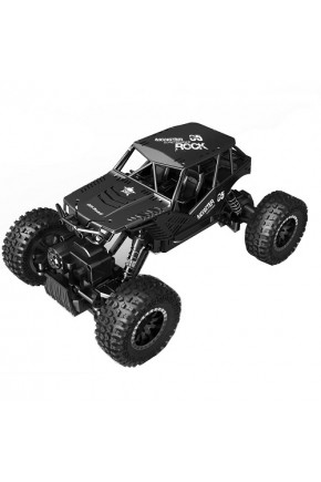 АвтомобильOFF-ROADCRAWLERнар/у–TIGER(матовыйчерный,аккум.4,8V,метал.корпус,1:18)