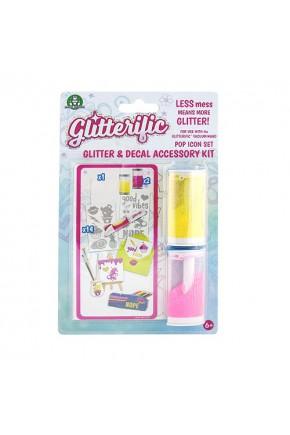 Игровой набор для юного дизайнера GLITTERIFIC - ПОП-ЗВЕЗДА (блёстки в ассортименте, наклейки)