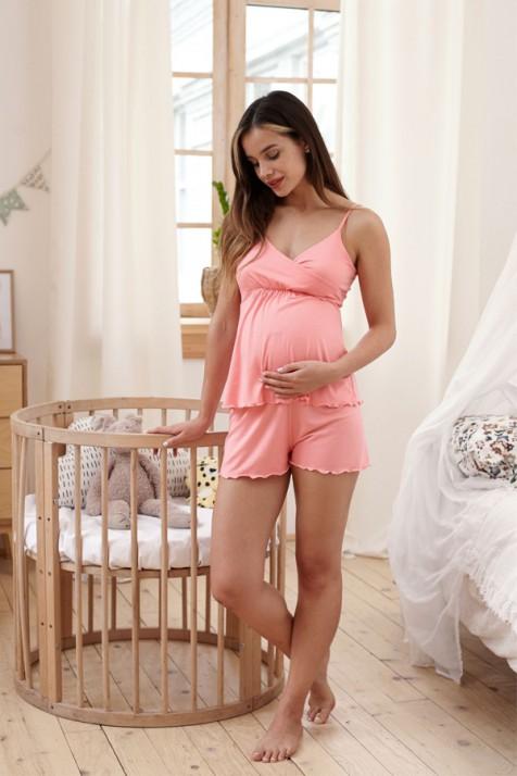Пижама для беременных и кормящих Milk and the city Mirelle коралл