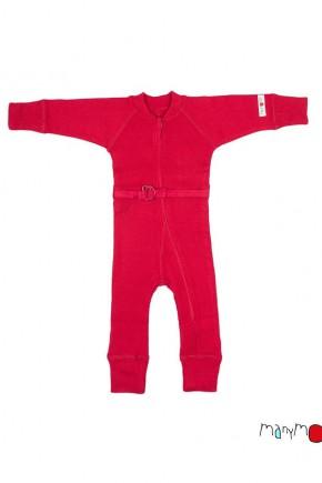 Термокомбинезон из шерсти мериноса цвет красный MaM ManyMonths