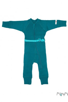 Термокомбінезон з вовни мериноса колір Winter Fjord Blue, MaM ManyMonths