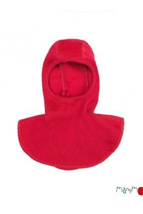Шапка-шлем из шерсти мериноса MaM ManyMonths красная