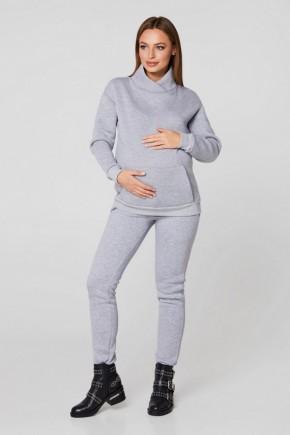 Костюм ванкувер для беременных и кормящих на флисе Lullababe меланж