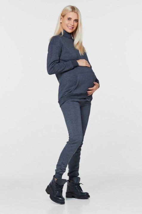 Костюм ванкувер для беременных и кормящих на флисе Lullababe антрацит
