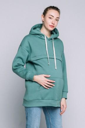 Худи для беременных и кормящих Love&Carry Нефрит