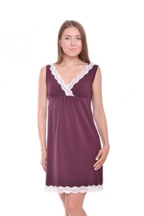 Ночная рубашка для беременных и кормящих Purple бордо Мамин Дом арт. 24143