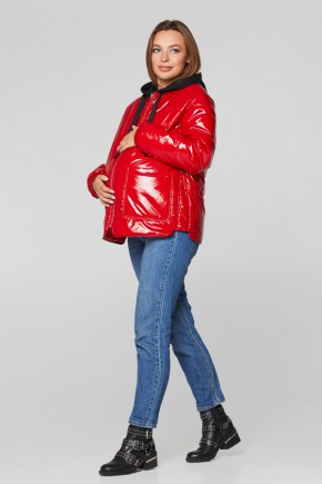 Весенняя куртка для беременных Lullababe Zaragoza (лаковая) красная