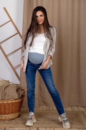 Джинсы для беременных To Be 4231 синяя варка