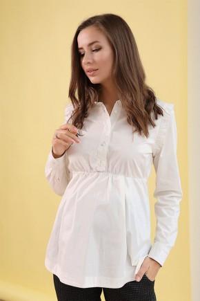 Блуза для беременных и кормящих To be 4203 цветочно-белая