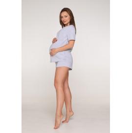Пижама для беременных и кормящих Lullababе Paleromo меланж