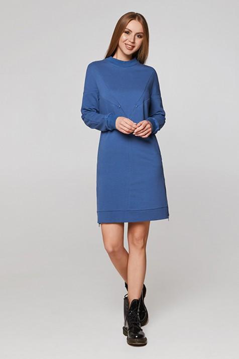 Платье для кормящих Lullababe Bermudy синее