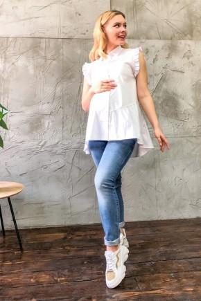 Сорочка для вагітних і годуючих Dianora 0173 біла
