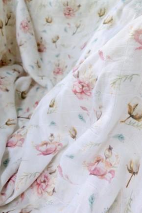 Пеленка муслиновая Embrace Хлопок с цветами