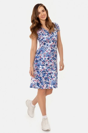 Трикотажное платье для беременных и кормящих Milk and the city голубое