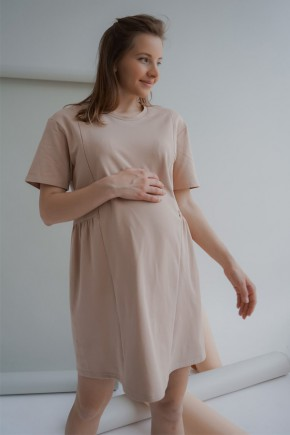Платье для беременных и кормящих To be 4242 теплый песок
