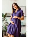 Летнее платье для беременных и кормящих Lullababe Polo Sorento фиолетовое