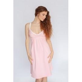 Ночная рубашка для беременных и кормящих Мамин Дом Little bear розовая