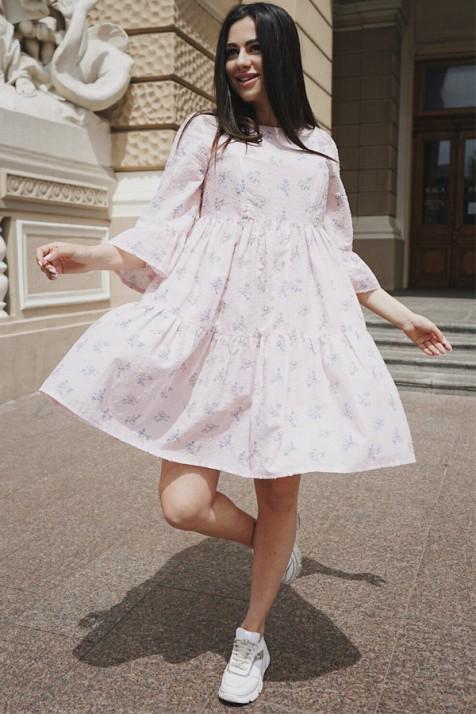 Платье для беременных и кормящих To be 4250 персиковый крем