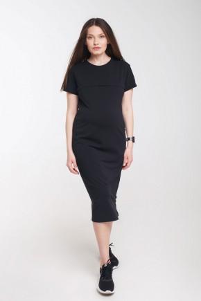 Платье для беременных и кормящих ZNANA Mova черное