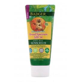 Солнцезащитный крем против насекомых Badger Company SPF 34 PA +++