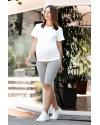 Велосипедки для беременных Lullababе Seville серый меланж