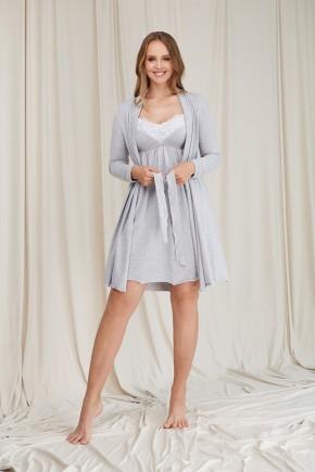 Халат для беременных Dianora 2064 серый