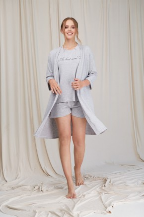 Халат для беременных Dianora 2061 серый