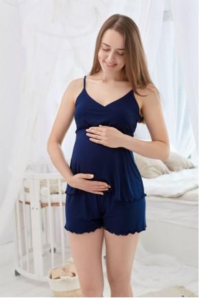 Пижама для беременных и кормящих Milk and the city Mirelle темно-синий