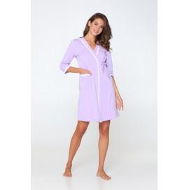 Комплект (халат + ночная сорочка) для беременных и кормящих Lullababe Sidney сирень