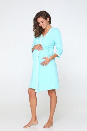 Комплект (халат + ночная сорочка) для беременных и кормящих Lullababe Sidney тиффани