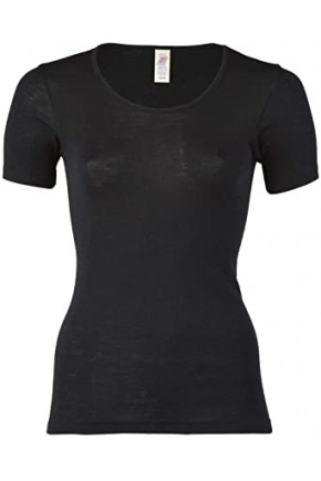 Термокофта жіноча Engel з вовни та шовку чорна
