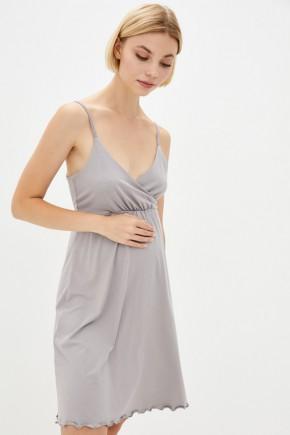 Ночная рубашка для беременных и кормящих Milk and the city Mirelle дымчатый