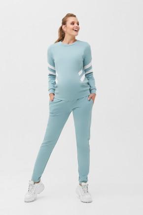 Кофта для беременных и кормящих Dianora 2085 сине-зеленая
