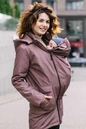 Демисезонная слингокуртка для беременных 4 в 1 Love&Carry капучино
