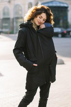 Демисезонная слингокуртка для беременных 4 в 1 Love&Carry черная