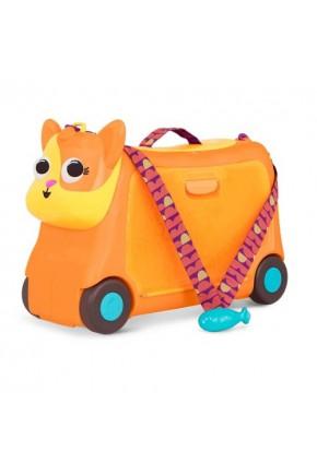 Детский чемодан-каталка для путешествий - КОТИК-ТУРИСТ